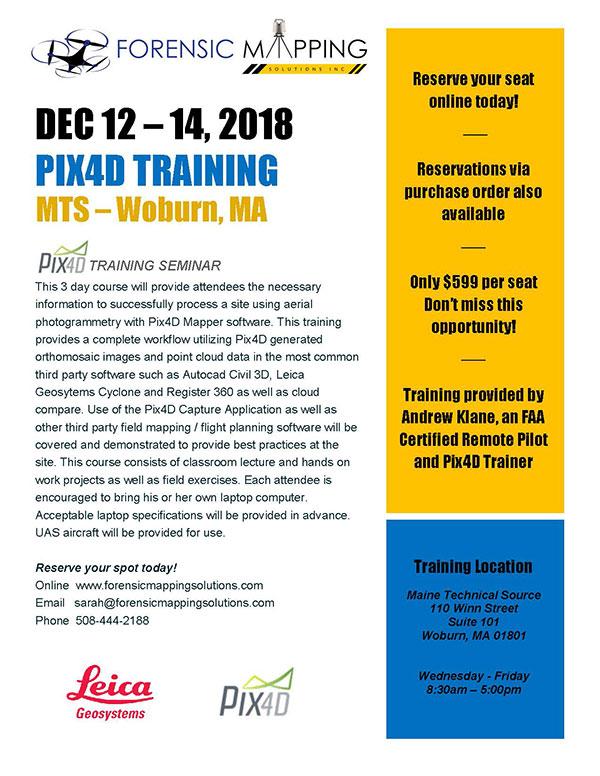 PIX4D Training - Woburn, MA