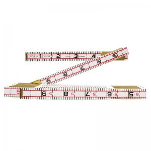 "Lufkin 6' x 5/8"" Engineer's Scale Wood Rule Red End"