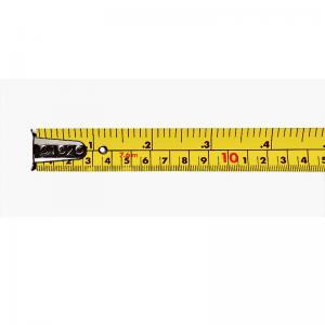 Keson 7.5m (25') Nylon-Coated Steel, Dual Graduation, Chrome Coated, Rubber Grip