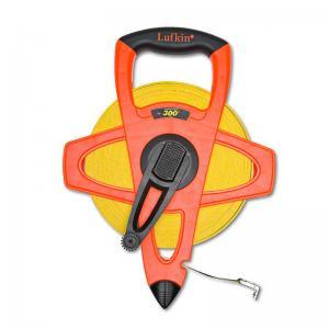"Lufkin 1/2"" x 300' Engineer's Hi-Viz Orange Fiberglass Tape, 10ths 100ths"
