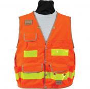 View: Seco 8063 Surveyors Utility Vest - Fluorescent Orange - ANSI/ISEA Class 2