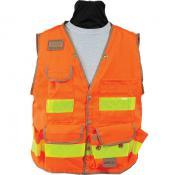 View: Seco 8069 Surveyors Utility Vest - Fluorescent Orange - ANSI/ISEA Class 2