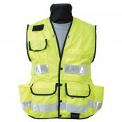 View: Seco 8069 Surveyors Utility Vest - Fluorescent Yellow - ANSI/ISEA Class 2