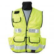 View: Seco 8069 Surveyors Utility Vest - Fluorescent Yellow - ANSI/ISEA Class 2