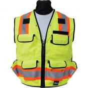 View: Seco 8265 Safety Utility Vest - Fluorescent Yellow - ANSI/ISEA Class 2