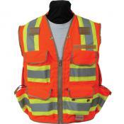 View: Seco 8265 Safety Utility Vest - Fluorescent Orange - ANSI/ISEA Class 2
