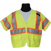 View: Seco 8390 Economy Safety Vest - Fluorescent Yellow - ANSI/ISEA Class 3