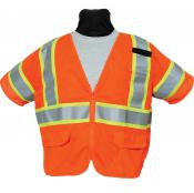 View: Seco 8390 Economy Safety Vest - Fluorescent Orange - ANSI/ISEA Class 3